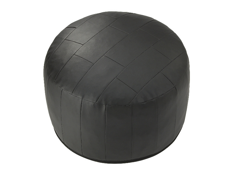 sitzkissen patchwork kunstleder pouf hocker braun rot schwarz weiss terracotta ebay. Black Bedroom Furniture Sets. Home Design Ideas